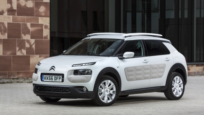 Citroen C4 Cactus with airbumps
